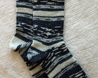 Wool socks,  Hand Cranked Socks, Hand Made Wool Socks, Knit Wool Socks, Women's Socks, Teen Socks, Men's Socks, Women's 10-11, men's 9-10