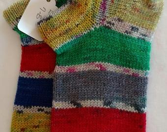 Wool Socks, Knit Wool Socks, Hand Cranked Wool Socks, Women's Socks, Men's Socks, Teen's Socks,