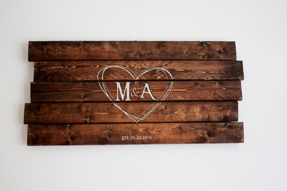 Rustic Real Wood Wedding Guest Book Sign, Custom Unique Personalized Wood Wedding Guest Book Sign, Unique Rustic Wedding Guest Book Sign