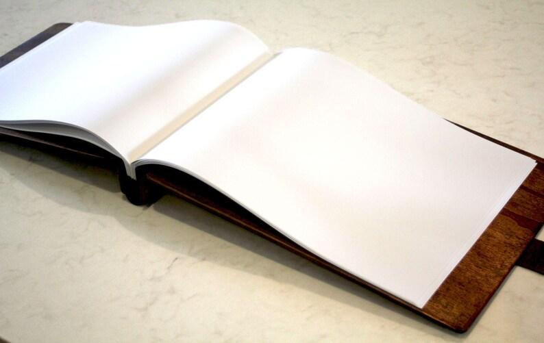 Rustic Wedding Guest book Idea Personalized Wood Guest Book Monogram Wedding Book Wood Wedding Guest Book Leather Unique Guest book