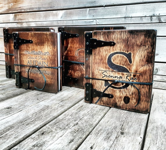 PRIORITY ORDER : Monogram Wood Photo Album, Handcrafted Custom Engraved Wooden Book, Unique Personalized Gift, Priority Order