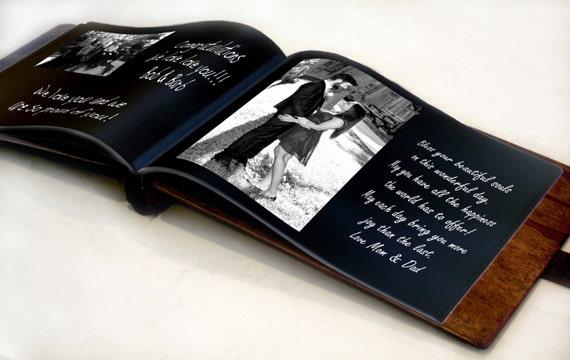 Rustic Wedding Album, Wedding Photo Book, Rustic Wood Wedding Photo Album, Unique Rustic Wedding Photo Guest Book, Custom wood Wedding Book