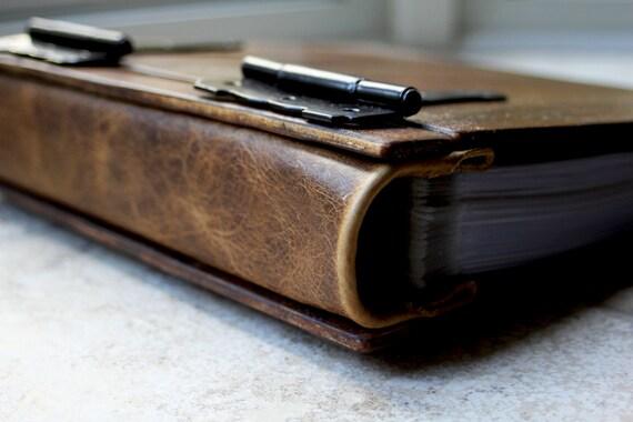 Unique Wood sketchbook / portfolio + Dandelion, Artist Portfolio, Custom Personalized Wood Sketchbook, Unique Gift Idea, Personalized Book