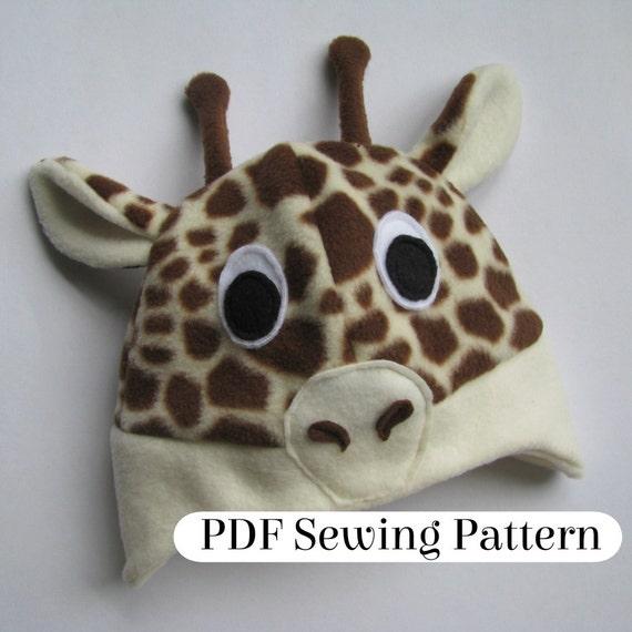 Giraffe Mütze Muster PDF-Schnittmuster | Etsy
