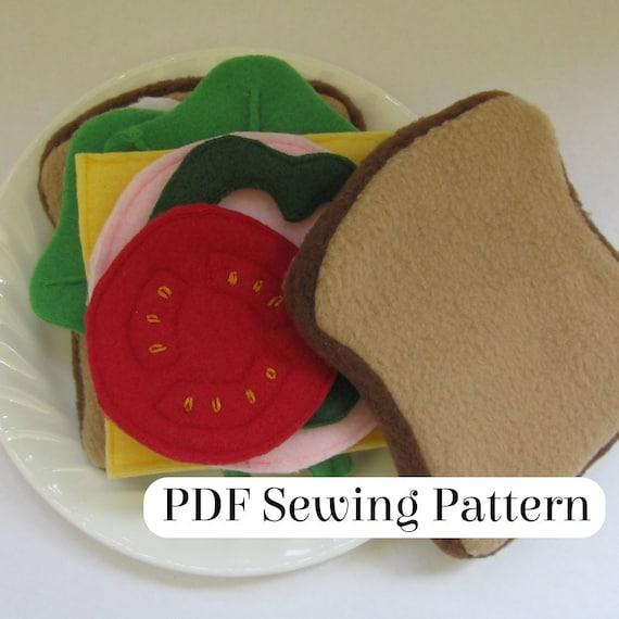 Sandwich-Muster PDF-Schnittmuster Fleece Essen Sandwich | Etsy