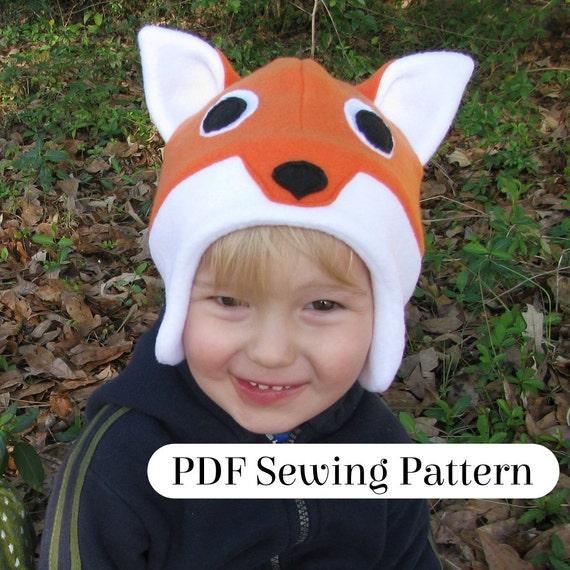Fox Fleece Mütze PDF-Schnittmuster Wald Tier Kostüm | Etsy