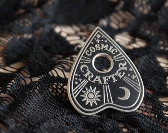 Ouija Enamel Pin / Planchette Pin / Seance Pin / Cosmic Crafter / Ouija Board / spirit board / talking board / Wicca Crafter / Planchetta