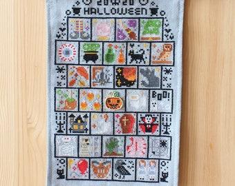 Halloween SAL 2020 Cross Stitch Pattern / Sampler Halloween / Spooky Stitch / 31 Spooky Mini Cross Stitch Patterns