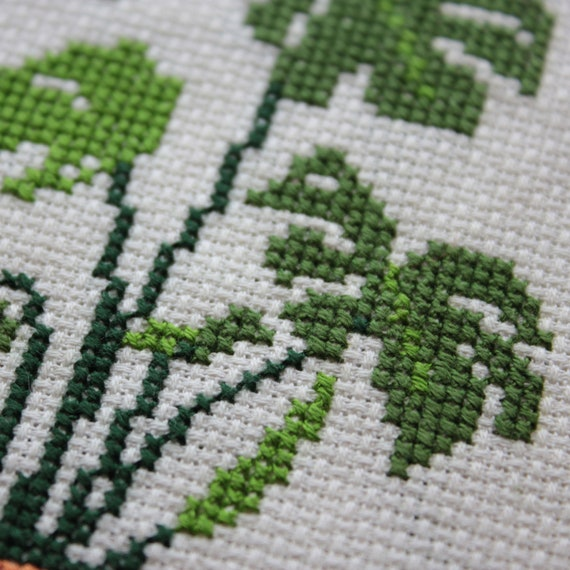 Homely plants cross stitch pattern instant download PDF funny counted cross stitch design