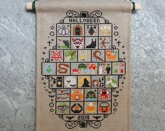 Halloween SAL 2019 Cross Stitch Pattern / Sampler Halloween / Spooky Stitch / 31 Spooky Mini Cross Stitch Patterns