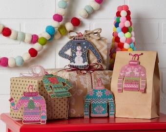 Ugly Christmas Sweater / Cross Stitch Pattern / Christmas Ornaments / Mill Hill Beads / Christmas Sweater / Ornament Embroidery / Xmas Decor