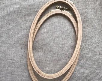 Beech Wood Hoop Oval / Oval Embroidery Hoop Beech Wood / Natural Hoop for Framing / Quality hoop for framing