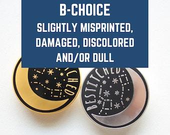 B-CHOICE Silver Needle Minder Bestitched / Moon Needle Keep / Needle Minder / Magnetic Needle Keep / Celestial Enamel Minder / Moon & Stars