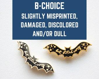 B-CHOICE Bat Enamel Needle minder / Bat Stitch Crazy / Stitcher Gift / Needle Keep / Spooky Needle Minder / Magnetic Minder / Minder