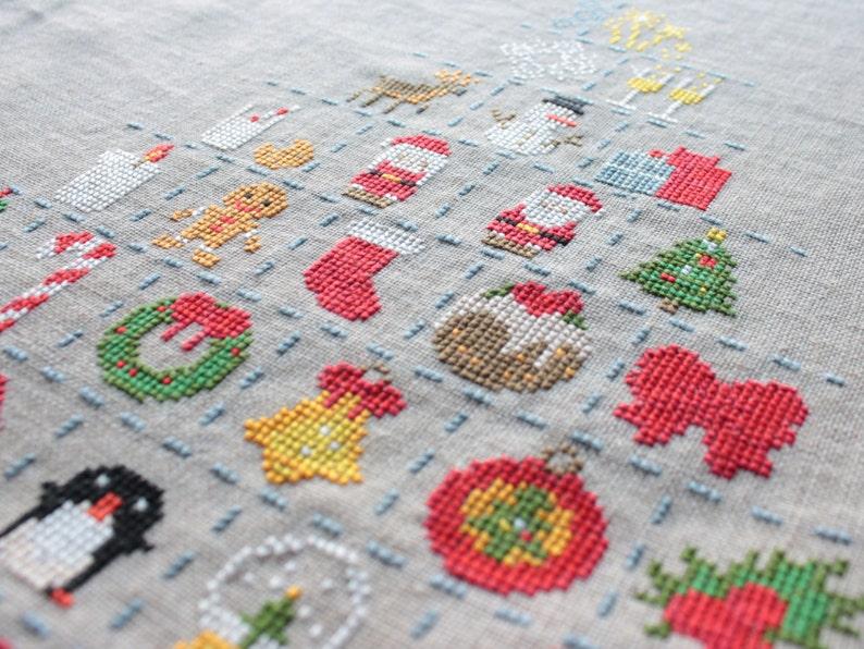 Christmas Cross Stitch Pattern / Sampler Christmas / Holiday image 0