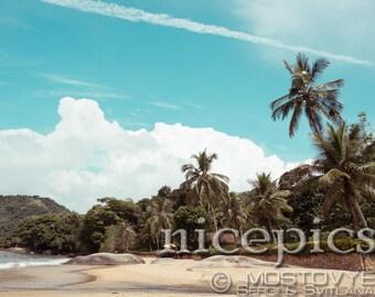 Empty tropical beach downloadable digital art print