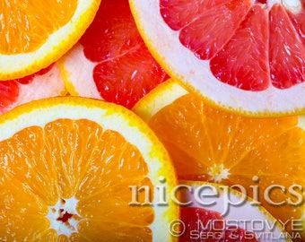 Grapefruits  and oranges background downloadable digital art print