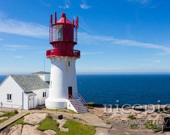 Lindesnes lighthouse downloadable digital art print