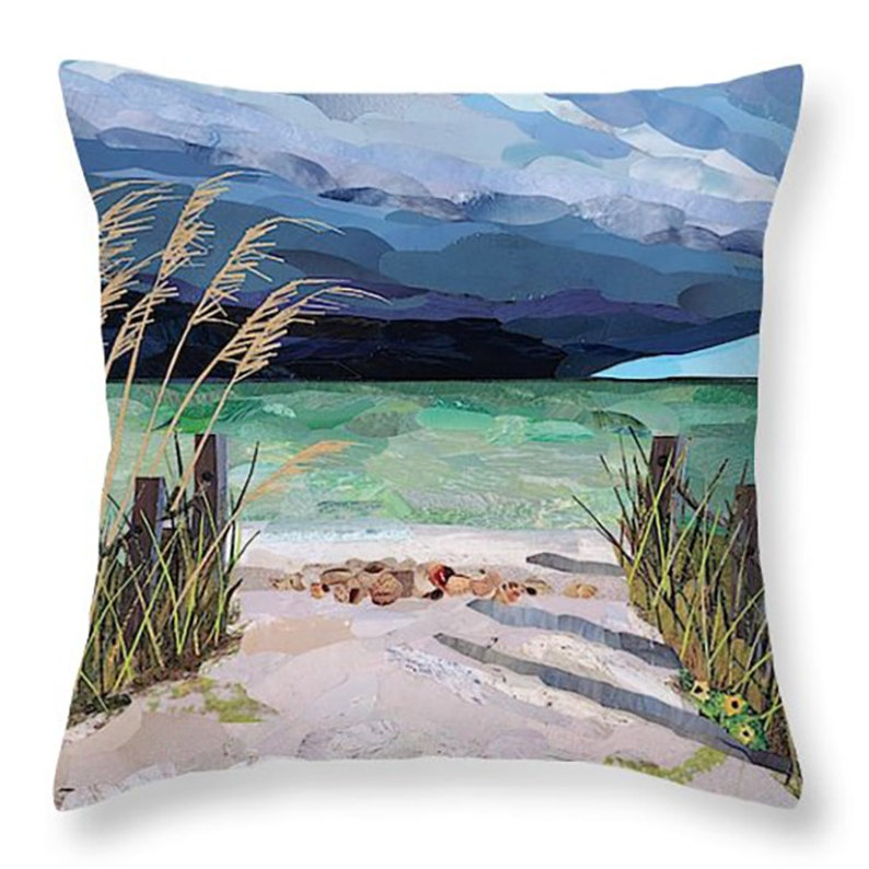 Throw Pillow Cover Pillow Beach Scene