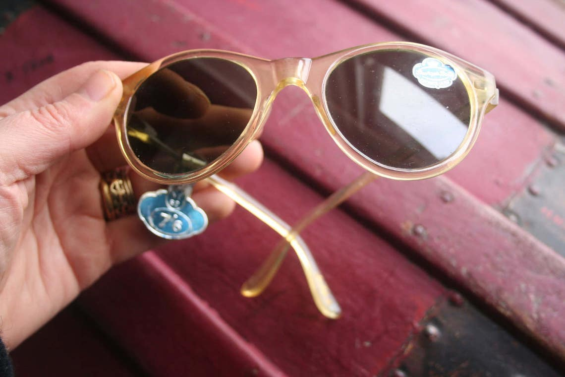 1950s sun glasses, true vintage, original, 1950s glasses, sun glasses  rare vintage, rare, accessories,  sunglasses, cats eye, new unused,