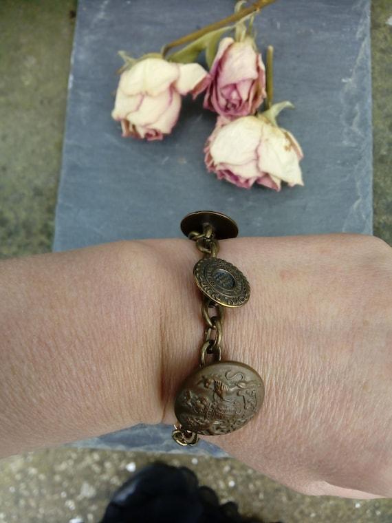 Vintage Button Nautical Bracelet