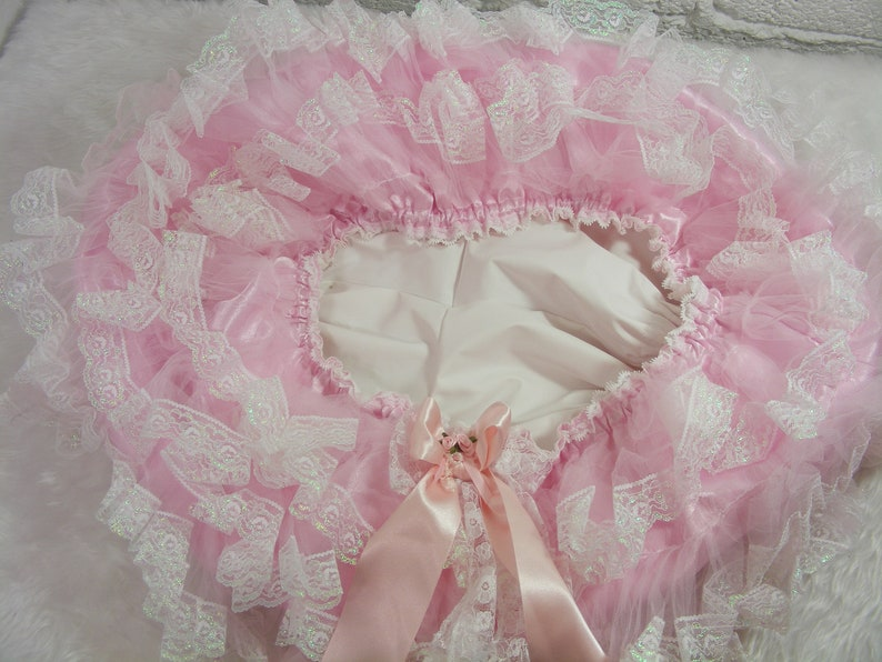 ADULT BABY SISSY BABY BLUE SATIN MITTENS   SATIN LINED AND BOWS