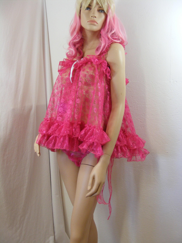 SISSY ADULT BABY FANCY DRESS DDLG SEQUIN ORGANZA  CHOKER COLLAR TV CD COSTUME