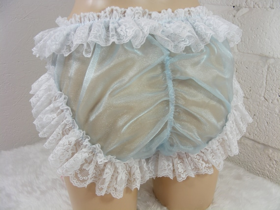 SISSYMAID~TV//CD~ADULT BABY~ UNISEX ORGANZA AND LACE BLOOMERS