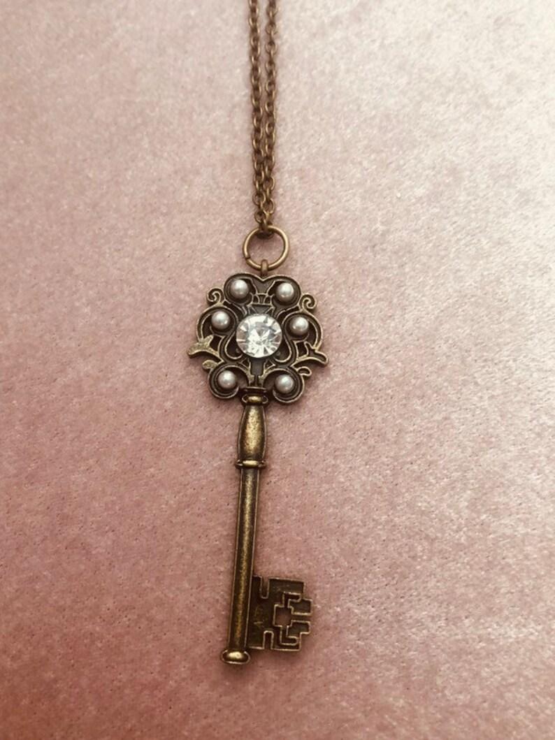Vintage Key Pendant Necklace