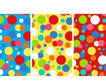 Henry Glass -  Dots from Jesus Loves Me Collection in Blue, Yellow and Red by Sharyn Sowell #6611