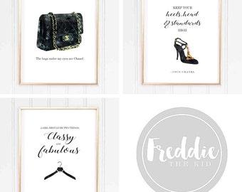 Coco Chanel - Fashion print Collection