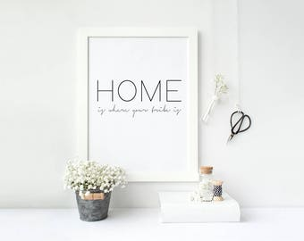Home is where your tribe is Scandinavian Family home print