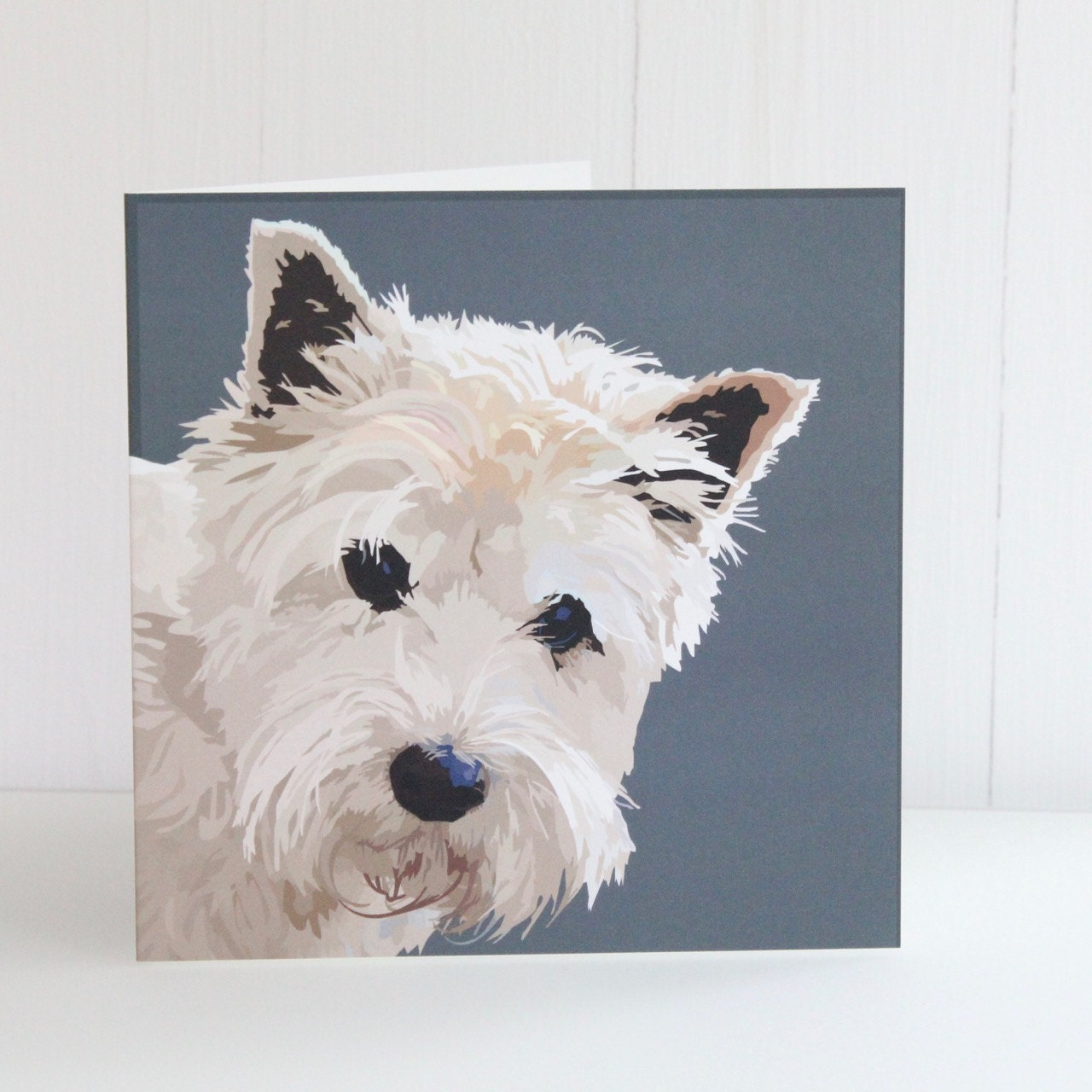 Westie Greeting Card Archie Etsy