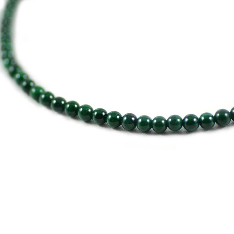 Malachite Gemstone Genuine Natural Green Stone Round Beads 4mm