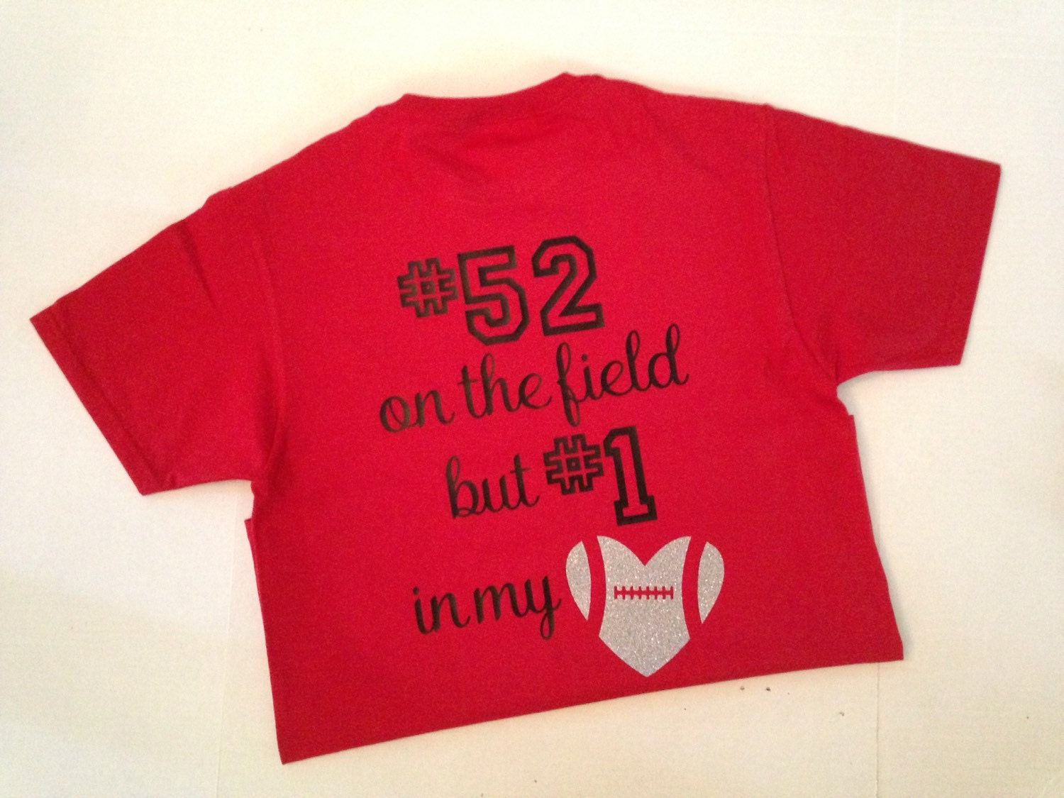 Number 1 In My Heart Football Shirt Etsy