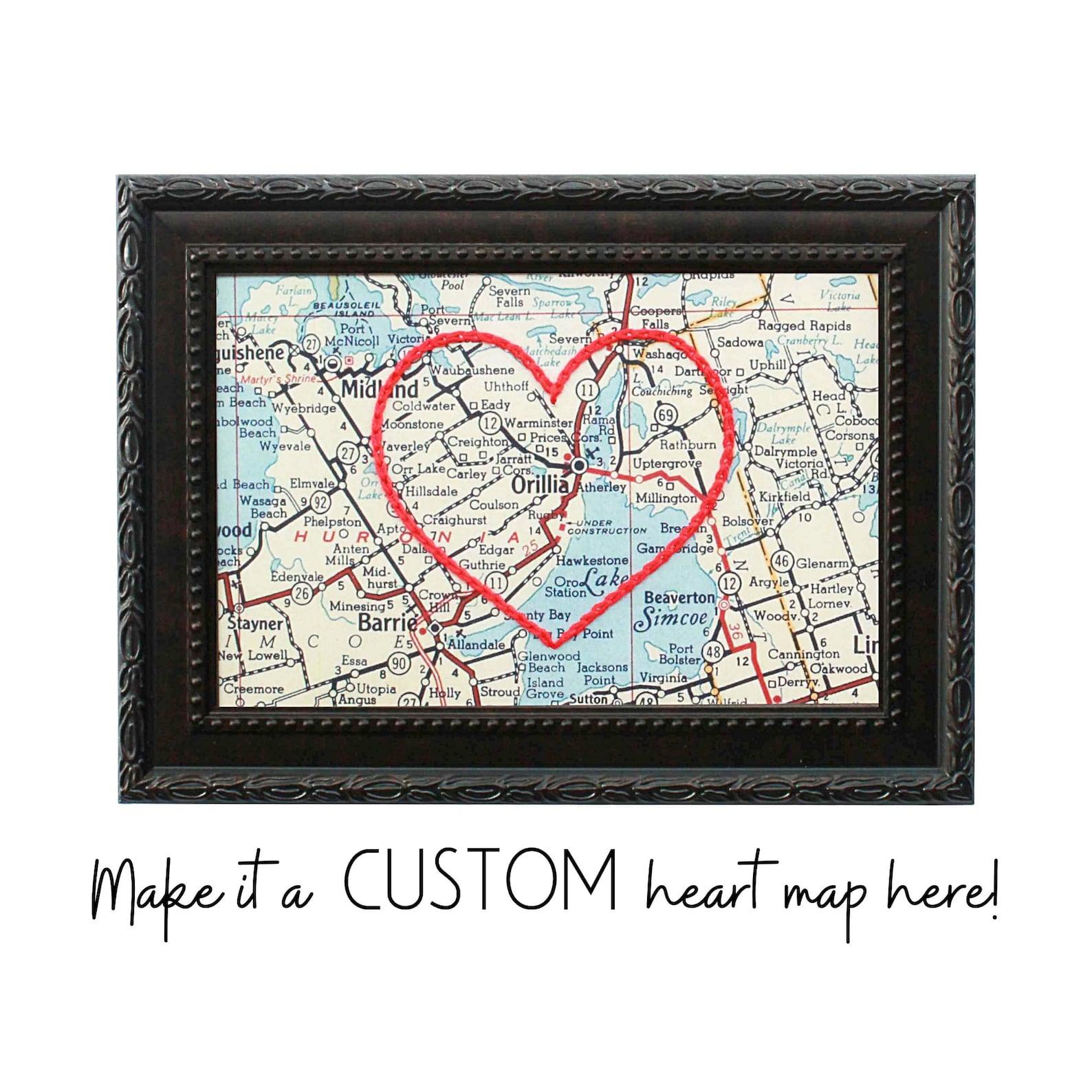 Custom Heart Map Hand