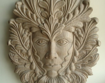 Carved wood ornament etsy