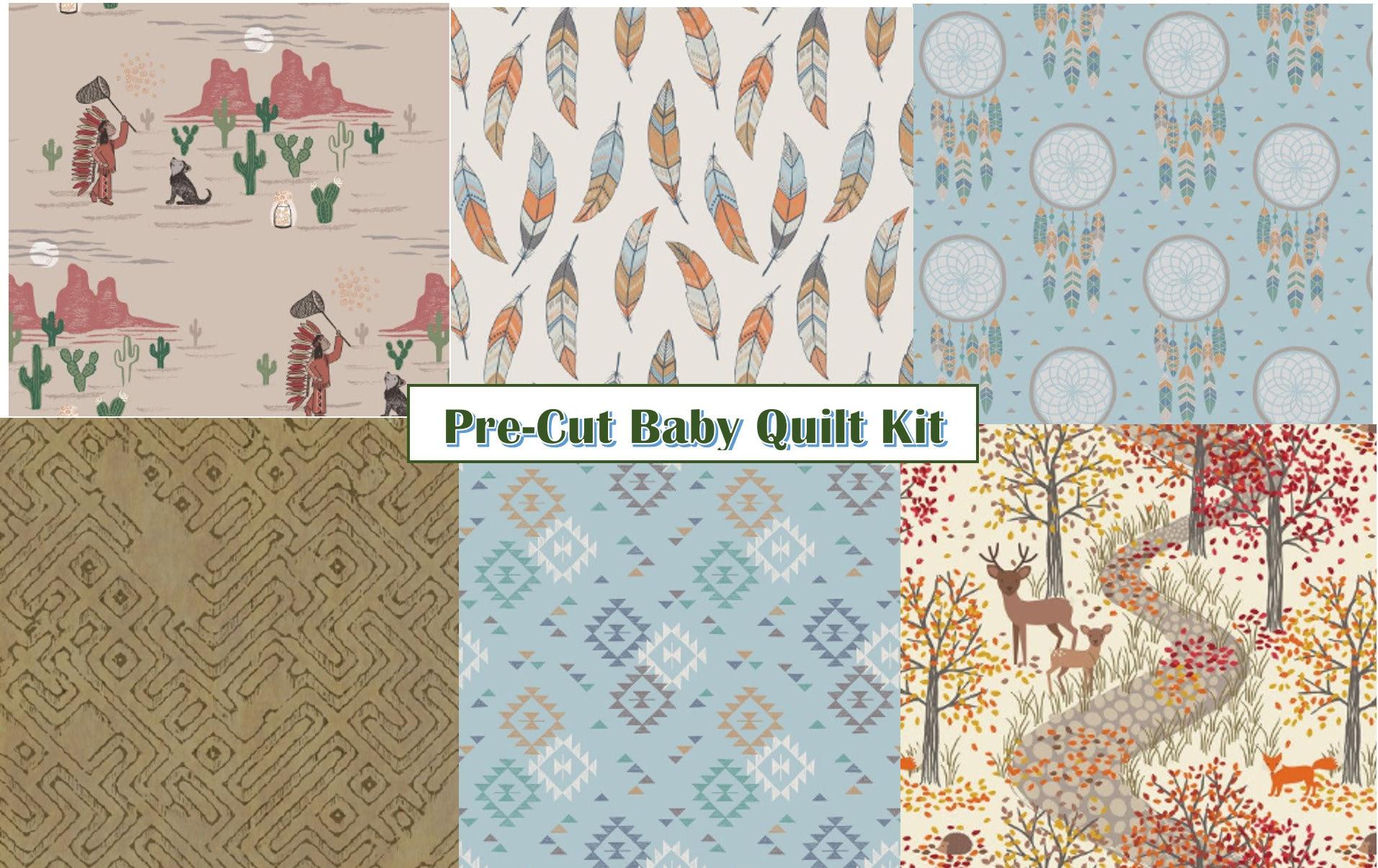Pre Cut Baby Quilt Kit Dream Catcher Diy Native Etsy