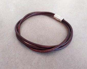 Men Leather Bracelet, Mens Bracelet, Leather Bracelet, Mens Jewelry, Brown Leather Bracelet, Gift For Him, Boyfriend Gift, Bracelets For Men