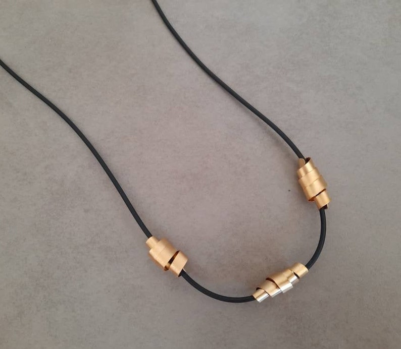 Black String Necklace Leather Jewelry Long Black Necklace Black Necklace Leather Necklace Gold Necklace Women Necklace