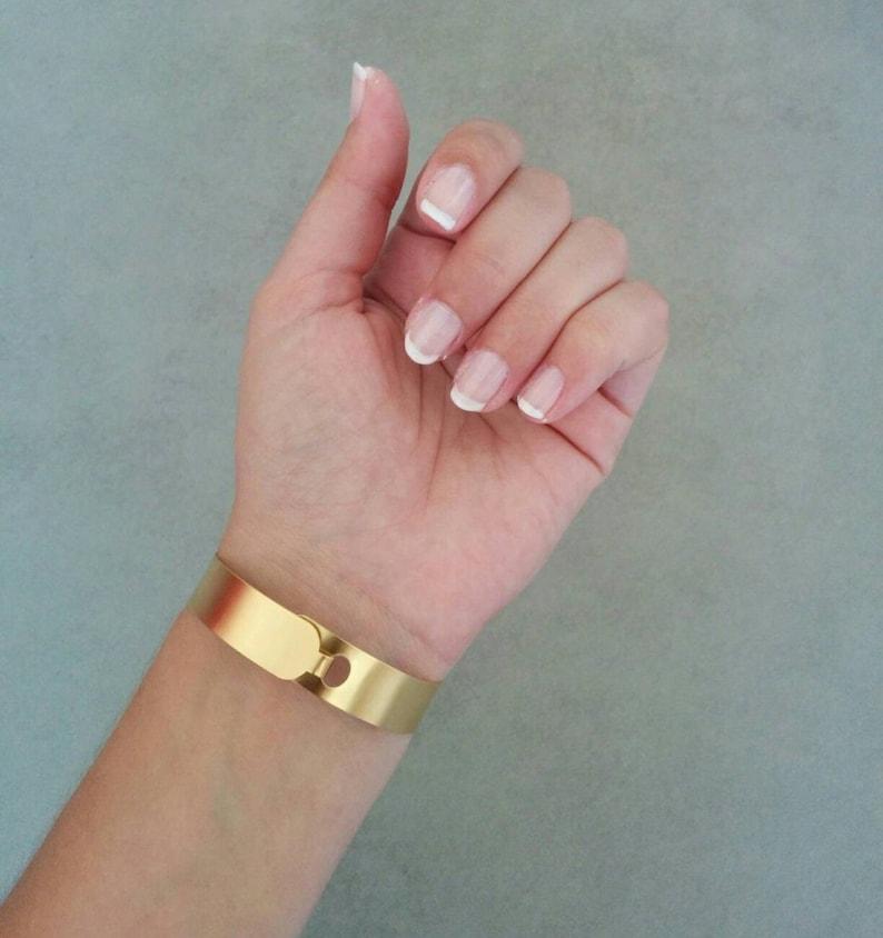 Plain Bracelet Gold Bangle Gold Cuff Cuff Bracelet Plain Cuff Gold Gold Bracelet Bridal Jewellery Bangle Bracelet Bridesmaid Gift