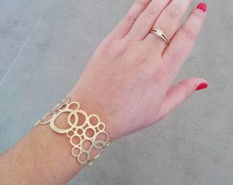 Circle Bracelet, Gold Bracelet, Gold Cuff Bracelet, Cuff Bracelet, Wide Bracelet, Gold Cuff, Gold Bangle, Brass Cuff, Wide Bracelet, Bangles