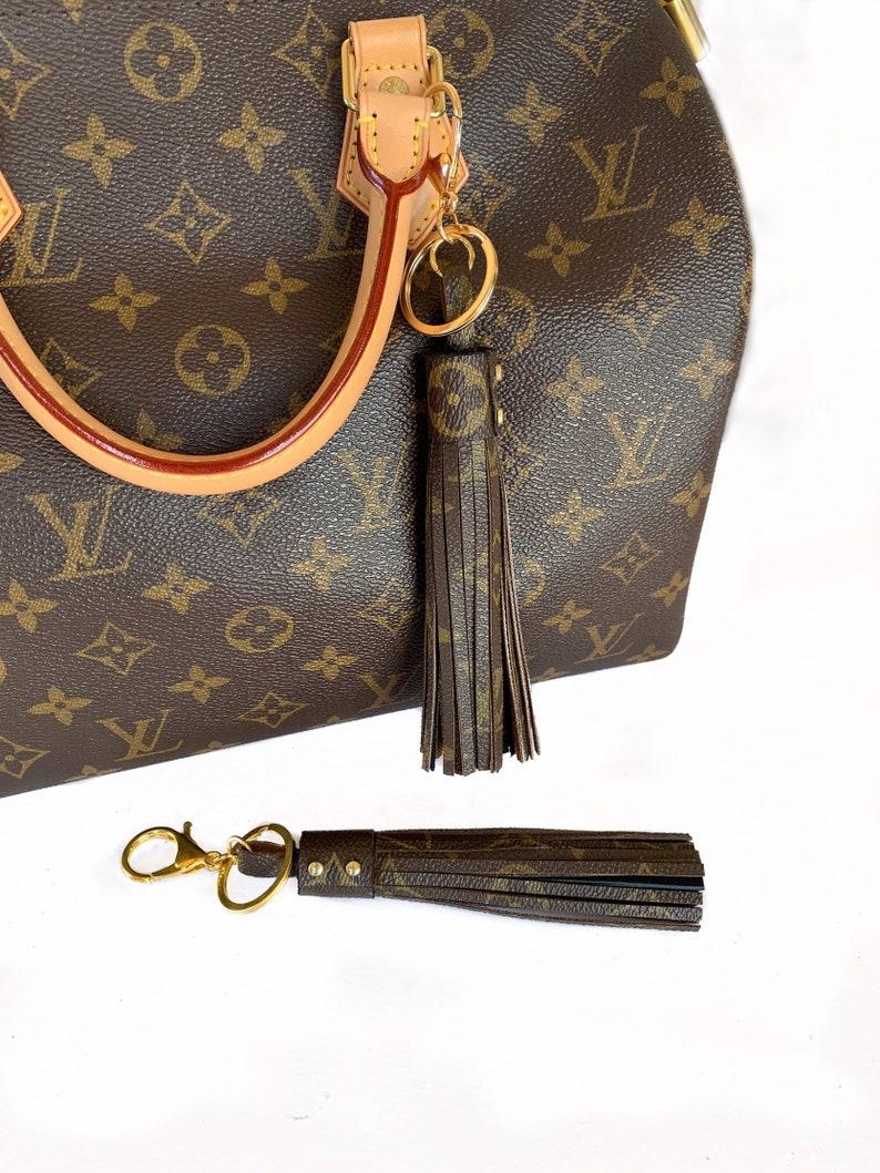 5d584a4231 Repurposed borsa nappa fascino con autentica tela di lusso | Etsy