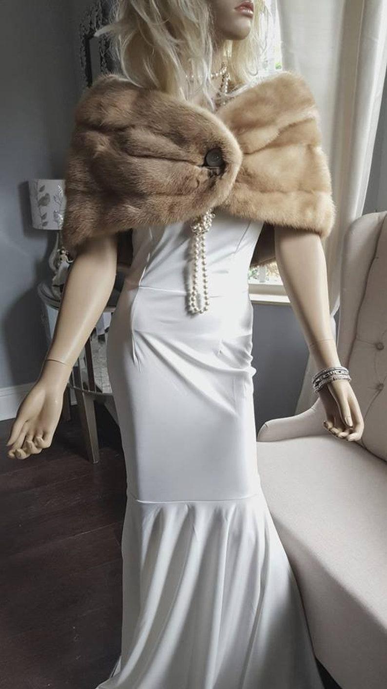 9d1313e2 Luxury Vintage Mink Fur Stole Bridal Fur Wrap Shawl Fur | Etsy