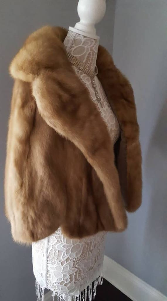 Bridal Luxury Fur Stole Jacket Coat Shrug Real Vintage Luxury AUTUMN Mint Wedding Fur Capelet Cape Mink EMBA HAZE Bolero Z6Xwaq