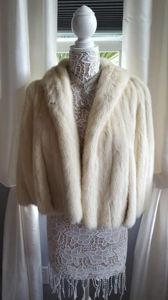 Stole Real Bridal Mink Mink Fur Fur Fur Ivory Vintage Bolero Wrap Coat Luxury Cape Bridal Wedding Fur Fur Capelet Vintage Shawl 1qgtWt
