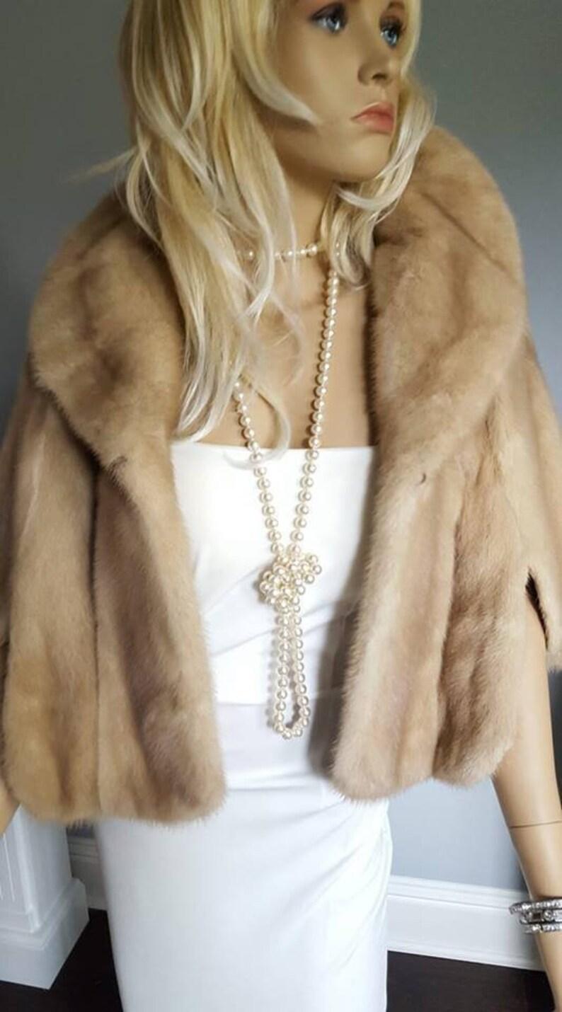 1416b413 Luxury Vintage Mink Fur Stole Bridal Fur Shawl Wrap Mink | Etsy
