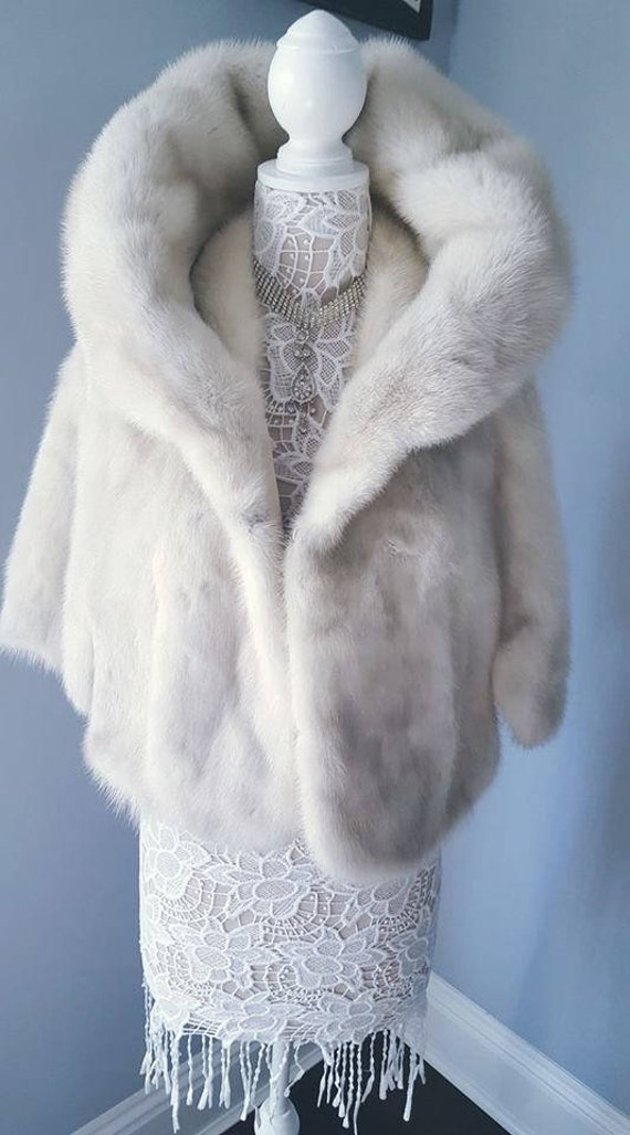 Cape Fur Wrap Luxury Stole Capelet Bolero Shawl Wedding Shrug Bridal AZURENE White Mink Fur Bridal Fur Fur Vintage Bridal Luxury Mink YYXqBw