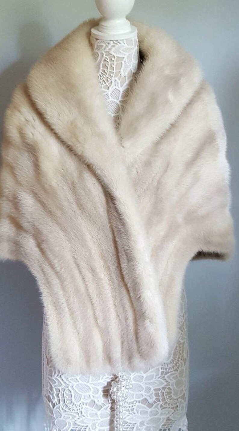cd8ded90770c1 Luxury Vintage MINK Fur Stole ~ Bridal Fur Shawl ~ Real Fur ~ Mink Cape ~  Winter Wedding Fur Bolero Shrug ~ Rustic Wedding Fur
