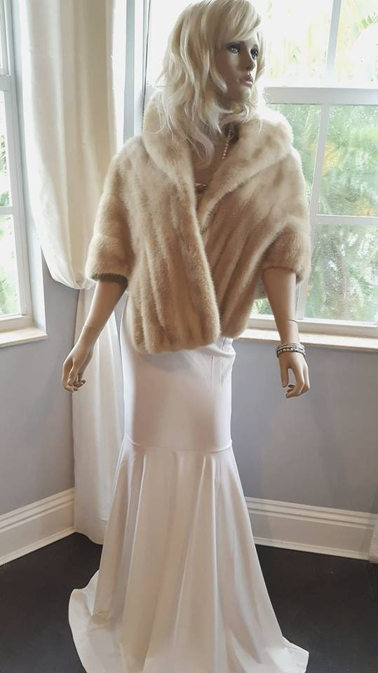 cf4acaffc32a0 Luxury Vintage Mink Fur Stole - Bridal Fur Wrap - Mink Cape - Real ...